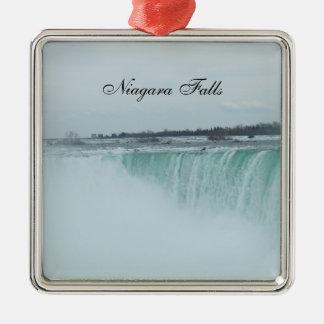 Niagara Falls julprydnad Silverfärgad Fyrkantigt Julgransprydnad