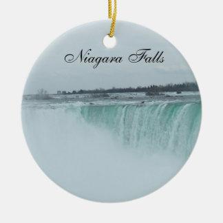 Niagara Falls prydnad Rund Julgransprydnad I Keramik