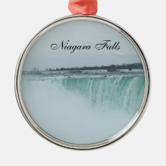 Niagara Falls prydnad Rund Silverfärgad Julgransprydnad