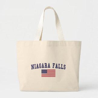 Niagara Falls US flagga Jumbo Tygkasse