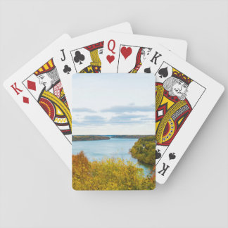 Niagara klyfta som leker kort kortlek