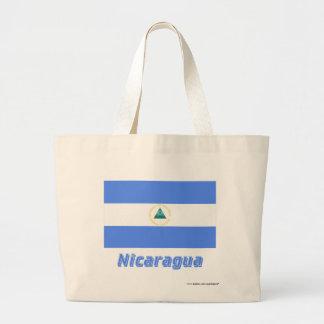 Nicaragua flagga med namn tote bags