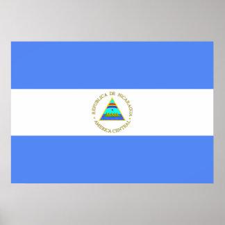 Nicaragua flagga poster