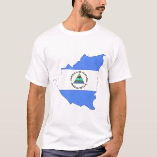 Nicaragua flaggakarta tröjor