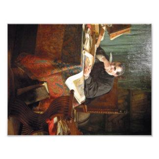 Niccolò Machiavelli i hans studie, vid Stephano Fototryck