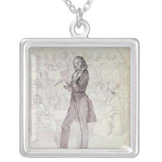 Niccolo Paganini, violinist Silverpläterat Halsband