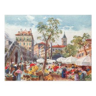 Nice frankrikeblomma marknadsför vykort
