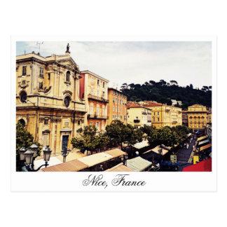 Nice öppen marknad, Provence frankrike Vykort