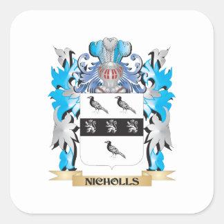Nicholls vapensköld - familjvapensköld fyrkantigt klistermärke