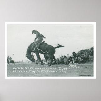Nick riddare som rider T. Joe på Cheyenne Frotier  Poster