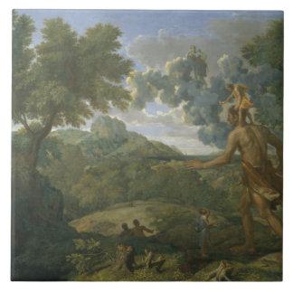 Nicolas Poussin - landskap med Orion Kakelplatta