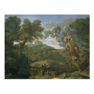 Nicolas Poussin - landskap med Orion Vykort