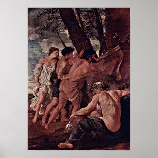 Nicolas Poussin - shepherdset av Arcadia Poster