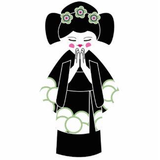 "Nicole framlägger ""geishaen"" Keychain Fotoskulptur Nyckelring"