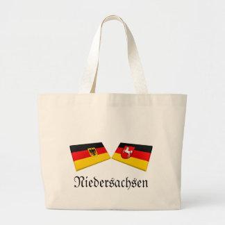 Niedersachsen Tysklandflagga belägger med tegel Jumbo Tygkasse