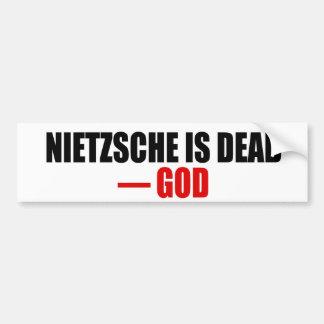Nietzsche är död bildekal