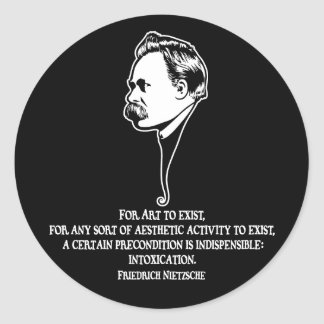 Nietzsche-art-1-DKT Runt Klistermärke