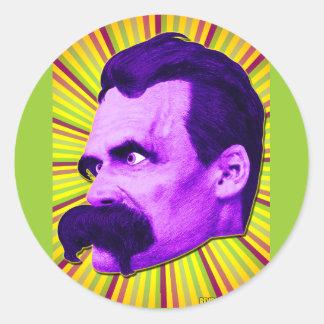 Nietzsche bristning! Gult & lilor & Bursty! Runt Klistermärke