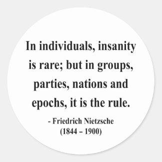 Nietzsche citationstecken 3a runt klistermärke