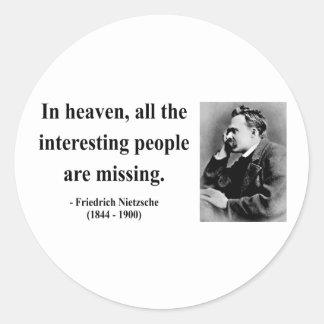Nietzsche citationstecken 4b runt klistermärke