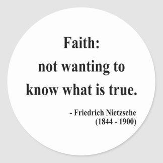 Nietzsche citationstecken 5a runt klistermärke