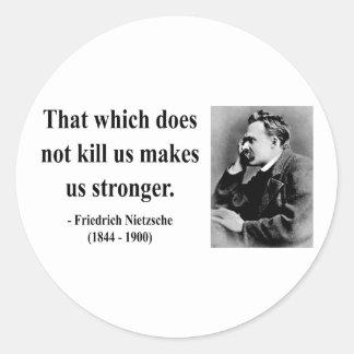 Nietzsche citationstecken 5b runt klistermärke