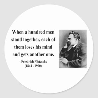 Nietzsche citationstecken 7b runt klistermärke