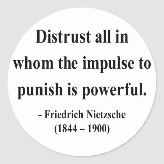Nietzsche citationstecken 8a runt klistermärke