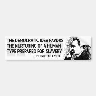 Nietzsche demokrati bildekal