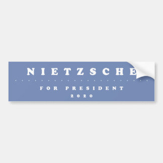 Nietzsche för presidenten 2020 bildekal