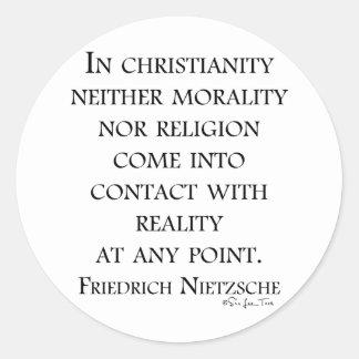 Nietzsche på kristendomen runt klistermärke
