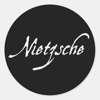 """NIETZSCHE "", RUNT KLISTERMÄRKE"