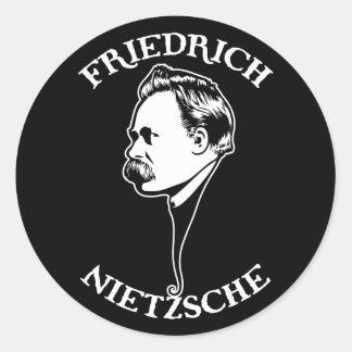Nietzsche - sv runt klistermärke