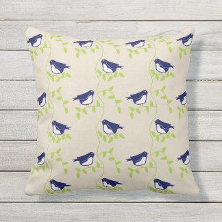 Nifty femtiotal - två blåttfåglar kudde