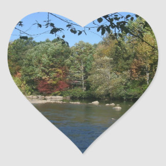 Nifty flod hjärtformat klistermärke