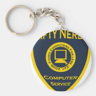 Nifty Nerds Rund Nyckelring