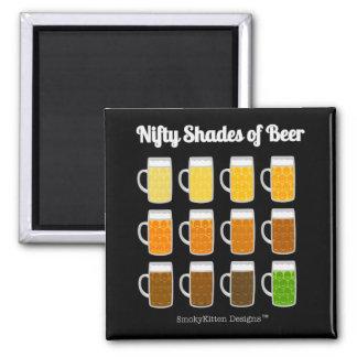 Nifty skuggar av öl (toner/färger av öl) magnet