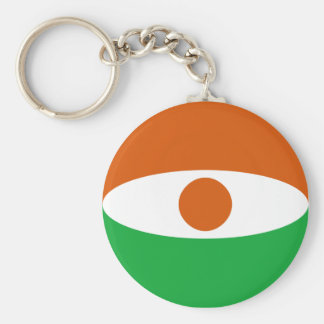 Niger Fisheye flagga Keychain Rund Nyckelring