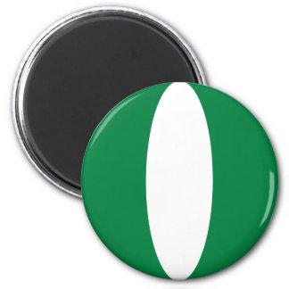 Nigeria Fisheye flaggamagnet Magnet