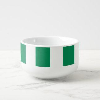 Nigeria flagga soppmugg