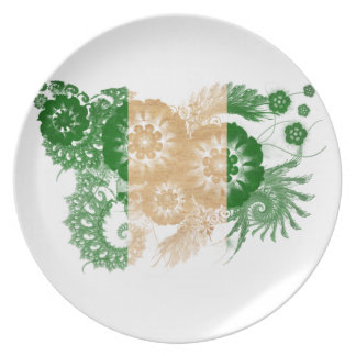 Nigeria flagga tallrik