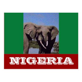 Nigeria flagga vykort