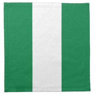 Nigeria flaggaservett tygservett
