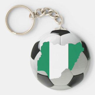Nigeria fotboll rund nyckelring