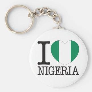 Nigeria kärlek v2 rund nyckelring