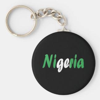 Nigeria Rund Nyckelring