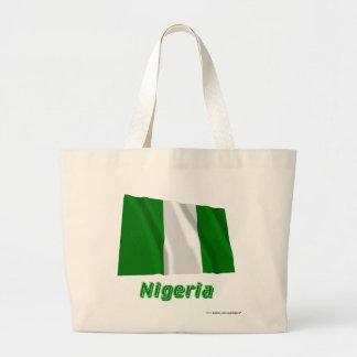 Nigeria som vinkar flagga med namn tote bag
