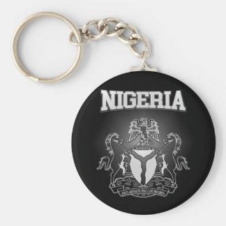 Nigeria vapensköld rund nyckelring
