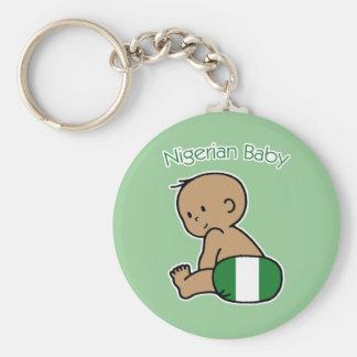 Nigeriansk baby rund nyckelring
