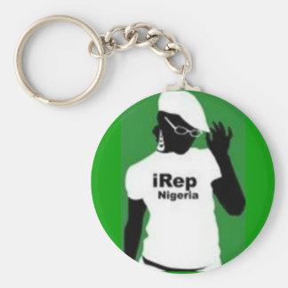 Nigerianska Keychain Rund Nyckelring